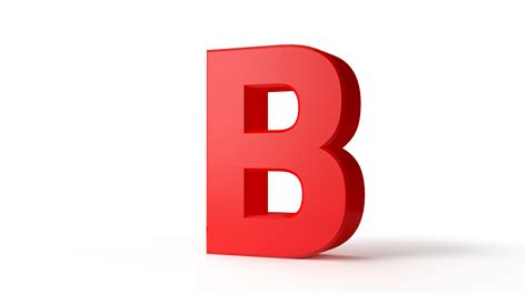 the b red letter b