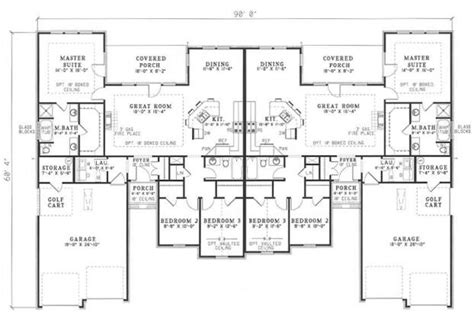 best duplex floor plans duplex house plans