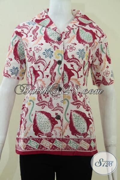 baju tren 2014 blus batik wanita tren mode 2014 baju batik lengan pendek