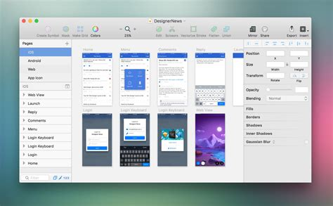 layout sketch software what does a modern ui designer s workflow look like in