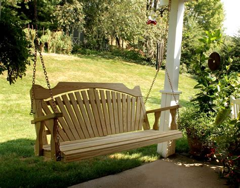 poarch swing treated pine fanback porch swing