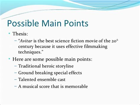 thesis statement for a speech creating a thesis statement developing points for a