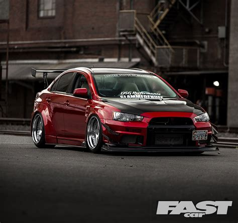 mitsubishi evo tuned mitsubishi evo x fast car