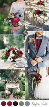 summer wedding colors burgundy and grey and summer wedding colors