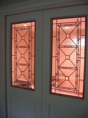 Pocket Doors With Glass Inserts Leaded Glass And Stained Glass Inserts Traditional