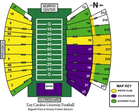 dowdy ficklen stadium seating chart east carolina 2008 football schedule