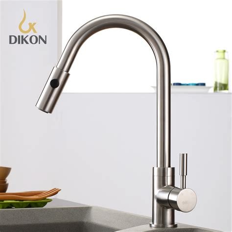 dikon 304 stainless steel kitchen sink faucet mixer tap