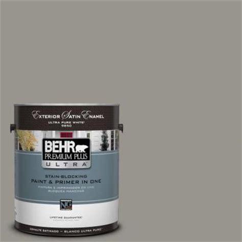 behr premium plus ultra 1 gal n360 4 battleship gray satin enamel exterior paint 985401 the