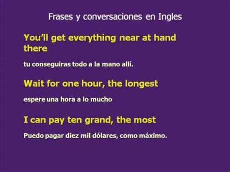 imagenes de frases en ingles y español frases en ingl 233 s y expresiones 1 curso de ingles youtube