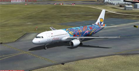 Citilink Airbus X Livery | fs freeware net fsx airbus a320 200 citilink floral