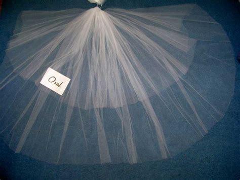 Veil Oval cut edge illusion 2 tier cathedral veil veils blusher