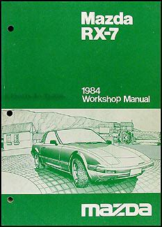 mazda rx 7 1984 1985 service repair manual download manuals 1984 mazda rx 7 repair shop manual original