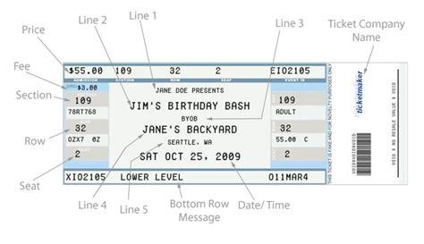 Concert Ticket Template Peerpex Ticket Generator Template