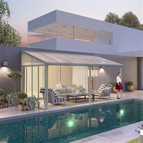 terrasse 4 x 3 m pergola toit terrasse aluminium et polycarbonate 4x3 m