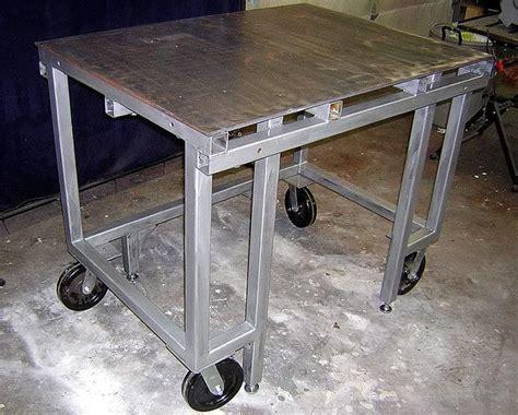 diy welding bench welding table pics the garage journal board welding