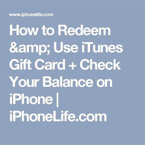 How To Check Your Itunes Gift Card Balance - 17 best ideas about gift card balance on pinterest gift