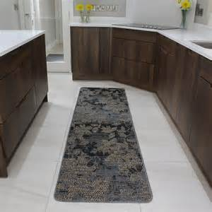 Rubber Backed Kitchen Rugs Brown Rubber Backed Modern Kitchen Rug Flat Weave Easy Clean Living Room Rugs Uk Ebay