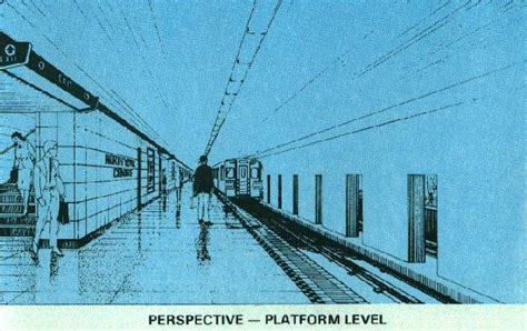 Perspecitve In A Tornoto Subway Station by York Centre Transit Toronto Subway Station Database