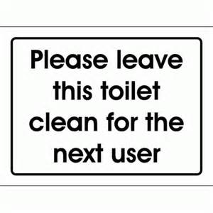 Bathroom Sign Next signs to keep clean » ideas home design