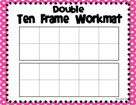 10 frame template printable 17 best ideas about ten frames on timetable