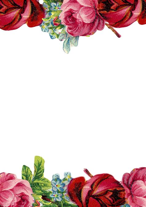 printable vintage rose stationery ausdruckbares