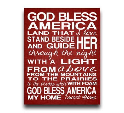 printable lyrics god bless america god bless america print song lyrics subway art typography