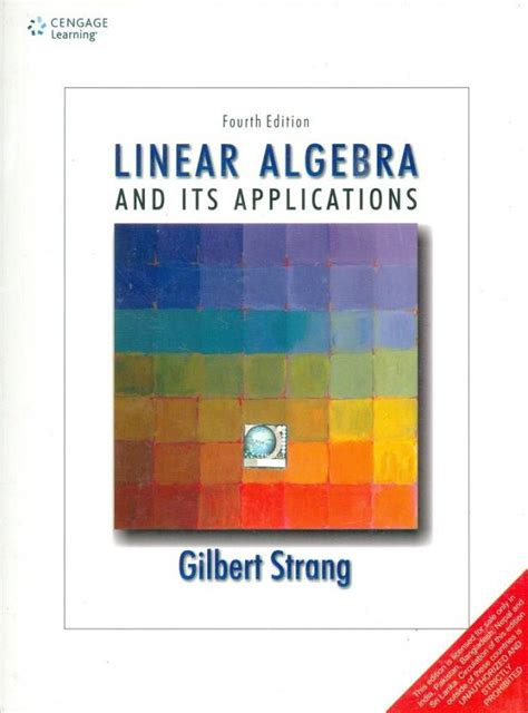 Linear Algebra And Its Applications 5e Lay linear algebra and its applications 4 edition buy linear algebra and its applications 4