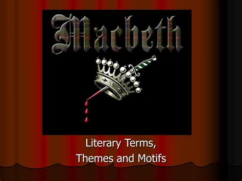 theme literary term powerpoint ppt literary terms themes and motifs powerpoint