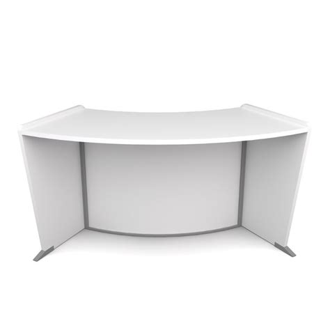 Ofm Reception Desk Ofm Marque Ada Wheelchair Accessible Curved Reception Desk In White 55490 White
