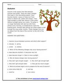 reading comprehension stories and questions worksheets