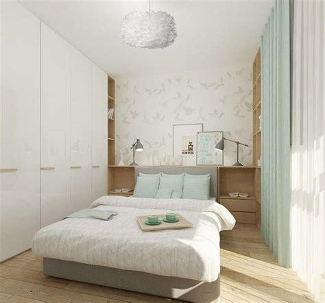 schlafzimmer ideen kleine räume kleines schlafzimmer in wei 223 mintgr 252 n und hellem holz