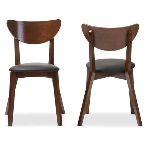 Dining Chairs Mid Century Mid Century Dining Chair 2 Set Modern Furniture Brickell Collection