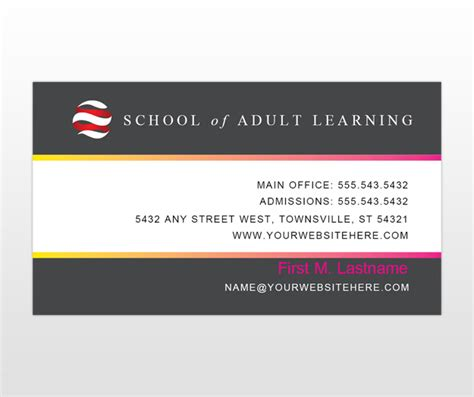 education business card templates education services provider business card templates