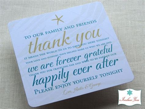 Wedding Favors Thank You Wording by Wedding Reception Thank You Card Wording I M Getting