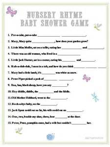 Baby Shower Complete The Nursery Rhyme Game Printable In Blue » Home Design 2017