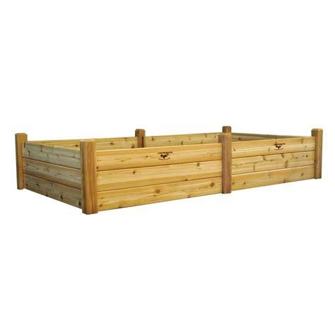 gronomics raised garden bed gronomics 48 in x 95 in x 19 in raised garden bed rgbt