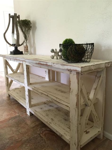 white farmhouse console table farmhouse console entryway foyer table by thewoodmarket on