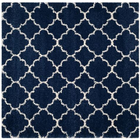 7 X 7 Area Rug Safavieh Hudson Shag Navy Ivory 7 Ft X 7 Ft Square Area Rug Sgh282c 7sq The Home Depot