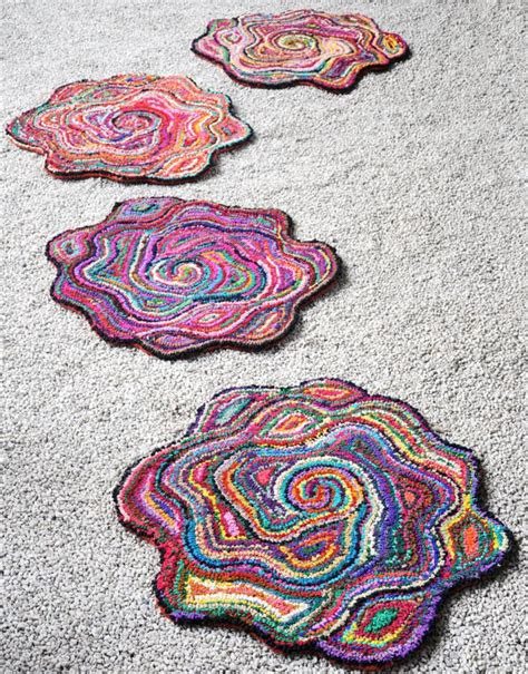 tufted flower shaped rugs