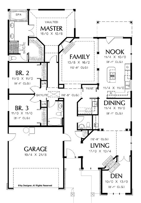 one home plans single house plans one house plans with custom