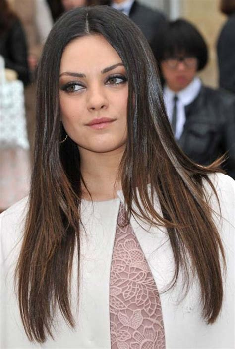17 chic straight hairstyles 2017 short medium long 14 trendy mila kunis hairstyles for you try it today