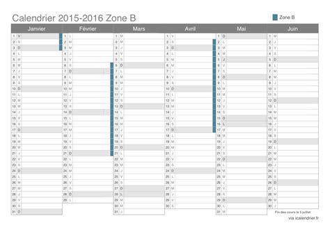 Zone B Calendrier 2015 Vacances Scolaires 2015 2016 Zone B Calendrier Et Dates