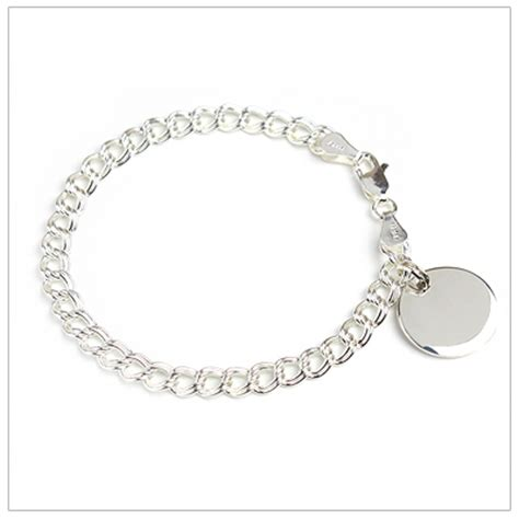 traditional charm bracelet traditional charm bracelet with engraved disc in