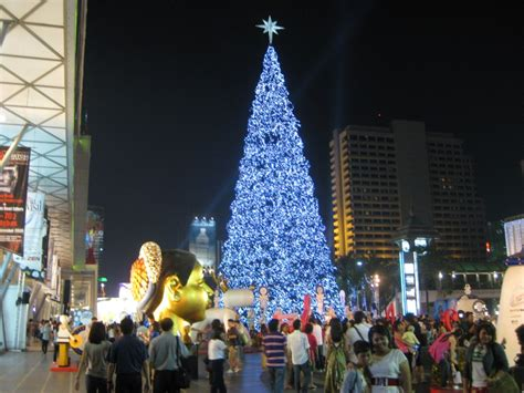 christmas time in bangkok thailand central world james