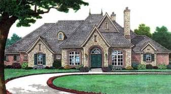 bungalow european french country traditional house plan 66115 country castle house plans home design and style