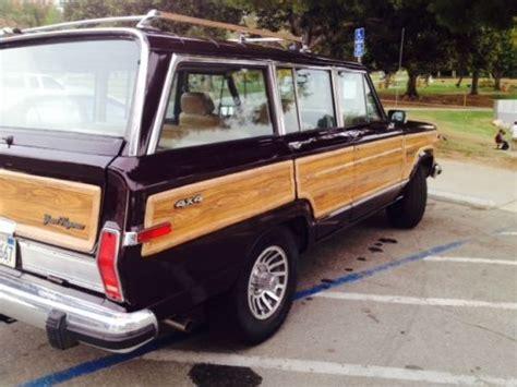 Jeep Wagoneer Vin Decoder Buy Used Restored 1990 Jeep Grand Wagoneer Woody 77 000
