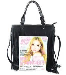 Fashion Bag Import Kg20527 Brown fashion tassel fringe handbag shoulder bag ebay