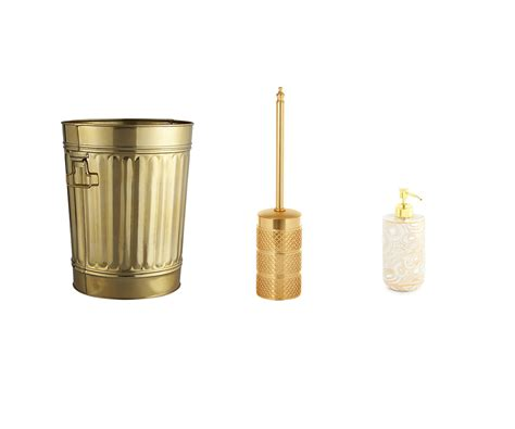 20 gold bathroom accessories gold colored bath decor ideas