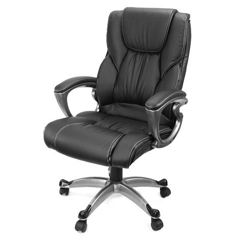 black pu leather high  office chair executive task ergonomic computer desk ebay