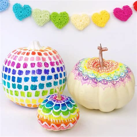 colorful ideas colorful pumpkin decorating ideas color made happy